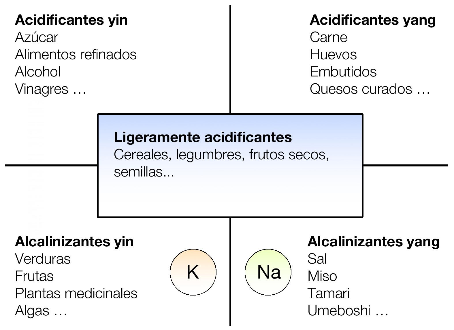 Resultado de imagen para dietetica de alimentos yin yang